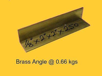 "1/"" x 1/"" x 1//16 brass angle 11/"" long CZ121"