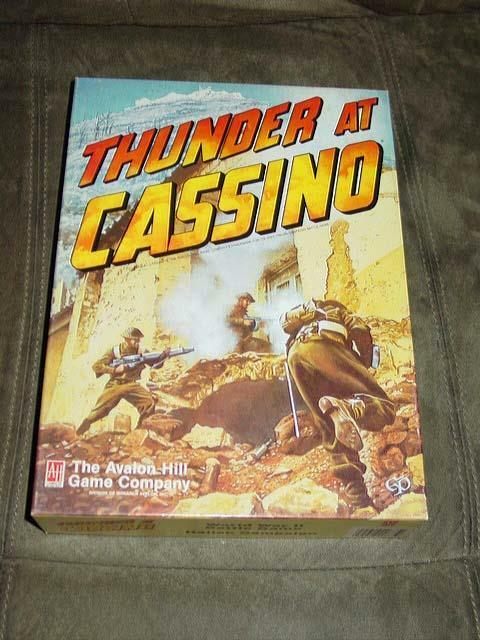 Avalon Hill - Thunder At Cassino - WWII Italian Campaign Battle  40% UNPUNCHED