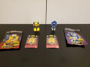 Prexio Transformers G1 Bumblebee & Soundwave Mini Smallest Toy Figures lot