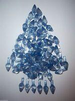 50 Blue Glitter Medium Twist Bulbs Vintage Ceramic Christmas Tree Lights