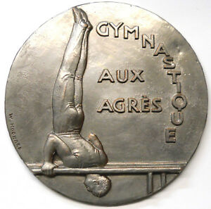France-Sport-Gymnastique-Gymnatique-aux-Agres-par-Hochard-Galvanique-190mm