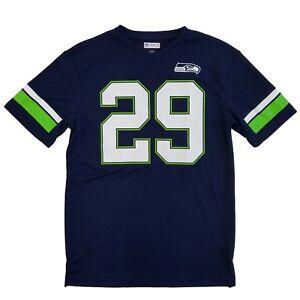 on sale baa35 d6695 Details about NFL Football Seattle Seahawks Mens Navy Earl Thomas III #29  Jersey Shirt
