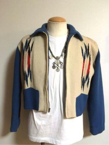 Ganscraft Vintage Chimayo Jacket Turquoise blue x