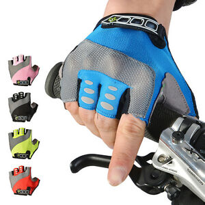 RockBros Bike Sports Half Finger Gloves Gel Pad Cycling Short Finger Gloves
