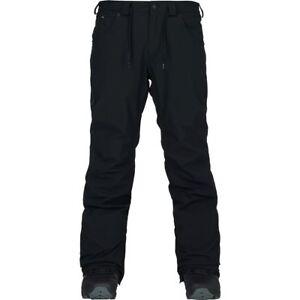2018-NWT-MENS-ANALOG-BURTON-THATCHER-SNOW-PANTS-true-black-tailored-fit