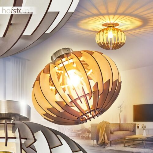 Holz Flur Dielen Lampen Retro rund Decken Beleuchtung Wohn Schlaf Raum Leuchten