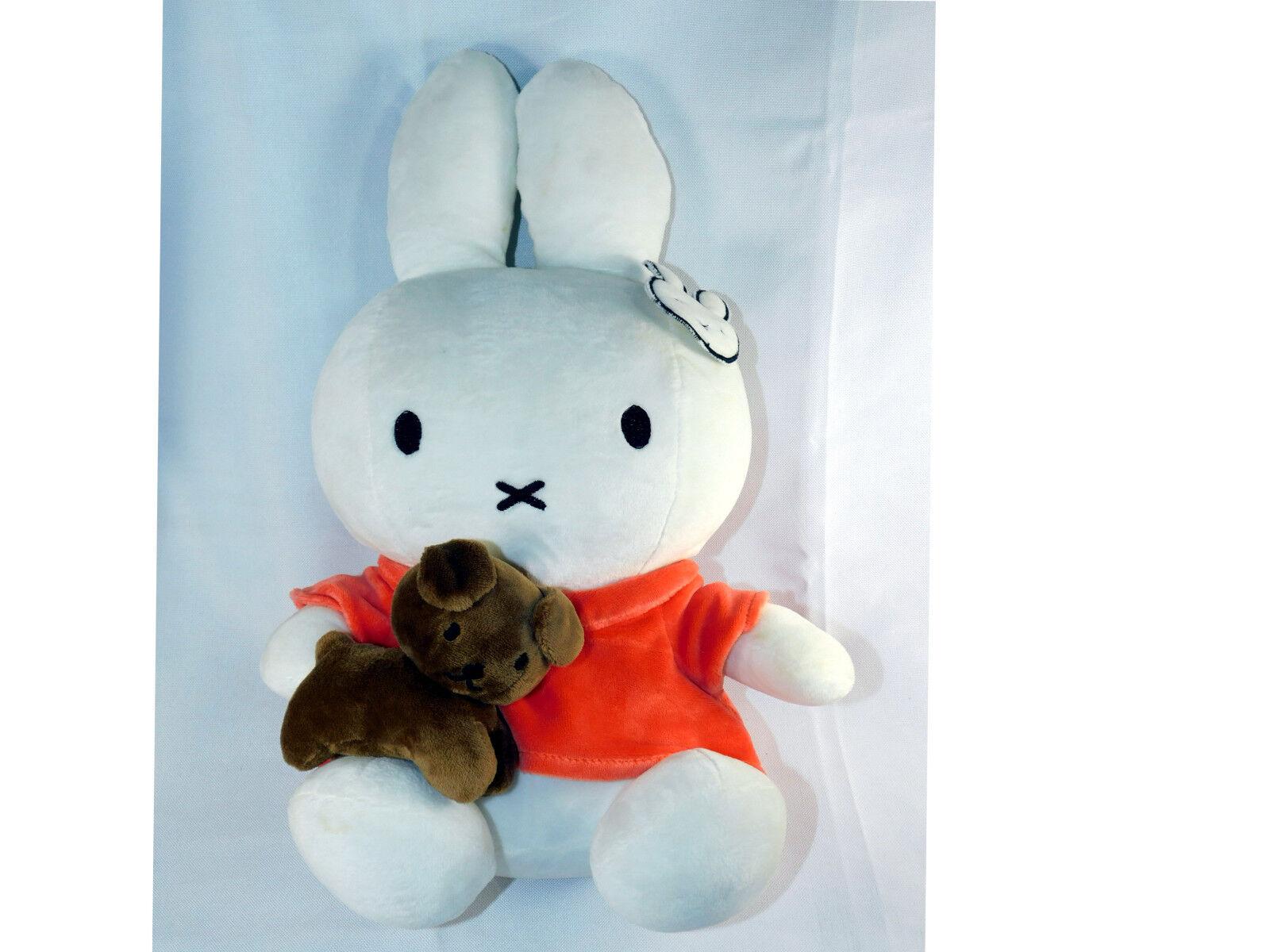 Miffy Weiß Rabbit Orange Shirt Holding Braun Puppy Dog 16