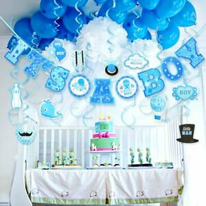 Baby-Shower-Hanging-Banner-Kit-for-Boy-It-039-s-A-BOY-Baby-Shower-Party-Decorations
