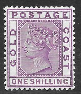 Gold-Coast-1888-1-Violet-SG-18-Mint