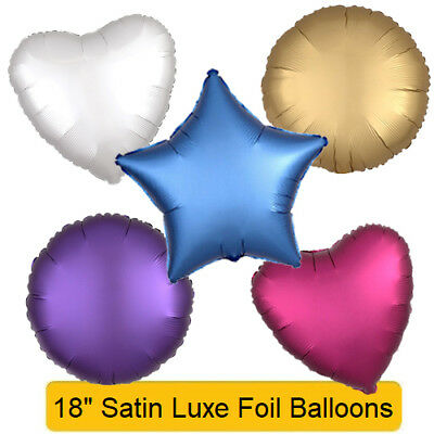 "New 18/"" ROSE GOLD Satin Luxe Helium Foil BALLOON Star Round Circle Heart"