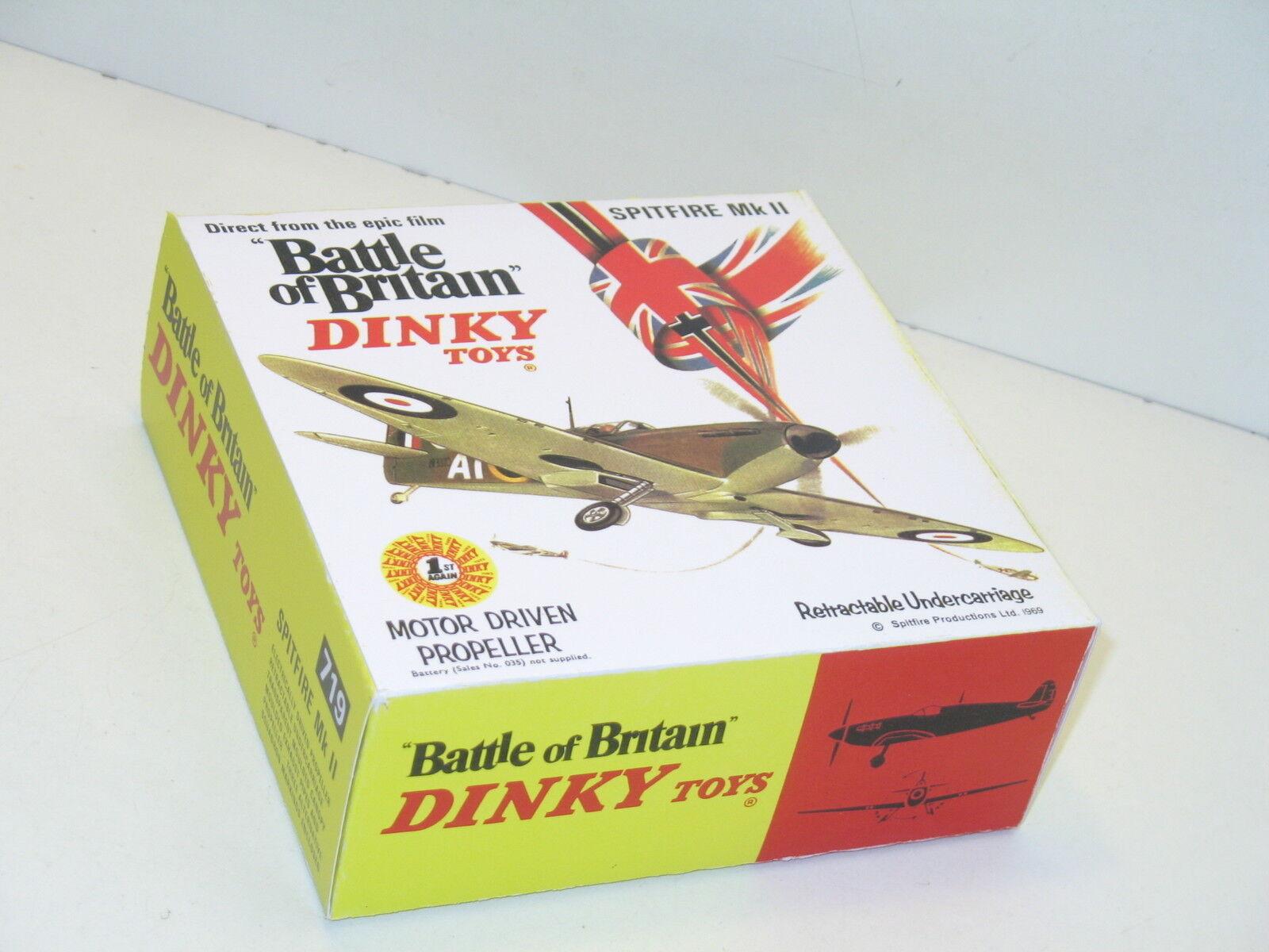 N116, boite DINKY TOYS, avion spitfire ref 719