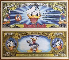 Disney Donald Duck Million Dollar Bill