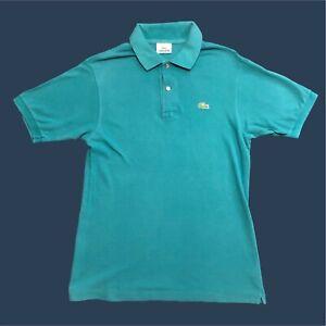 Mens-Lacoste-Polo-Shirt-Medium-Blue-Short-Sleeve