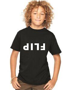 Bien éDuqué Kids T Shirt Flip Indicible Upside Down Drôle 5-13 Ans Noir Ou Blanc-afficher Le Titre D'origine Pure Blancheur