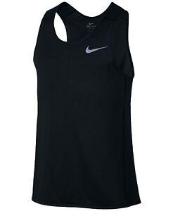 779f9b0a2aac7 Nike Dri-Fit Miler Men s Running Tank Top Black 872014 010