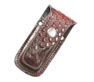 CASE-15-Leather-Case-Sheath-Brown-Pocket-5-034-overall-fits-4-4-5-034-knife-Pouch