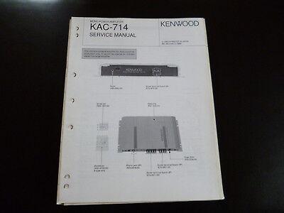 QualitäT Kenntnisreich Original Service Manual Kenwood Kac-714 Ausgezeichnete In