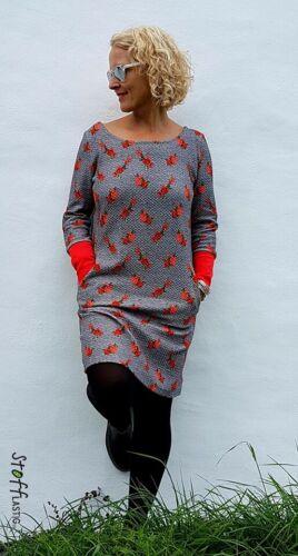 Papierschnittmuster Kleid Mila Damen von Fadenkäfer Gr.32 bis 58  Nr 50