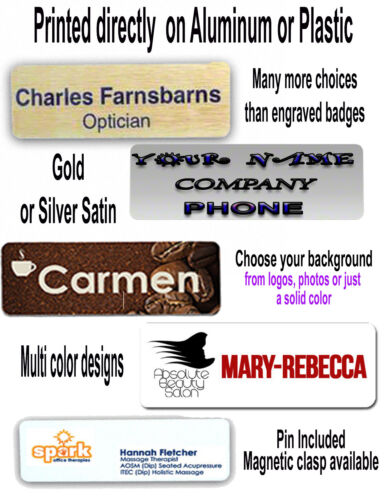 Lot 0f 11-1X3  PERSONALIZED NAME TAG BADGE CUSTOMIZED