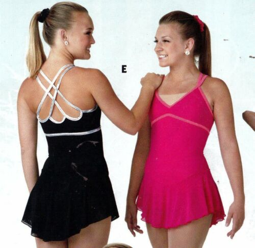 NWT Camisole Skate Dress Nude Bodice inset double straps ch/ladies szs 2 colors