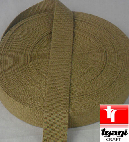 25mm Cotton Webbing Belting Fabric Strap Bag Making Soft thick Tape Ribbon Strap