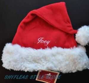 b669bc4bcd0a8 Pottery Barn Kids Santa Hat JOEY Embroidered Name Christmas PBK ...