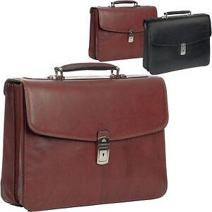 Damen-Herren-Buero-Tasche-Italy-Leder-Tony-Perotti-Business-Aktentasche-Crossover