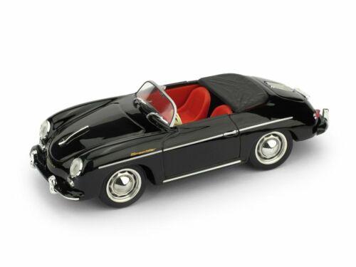 Porsche 356 Speedster Open 1952 Black BRUMM 1:43 R117S-02