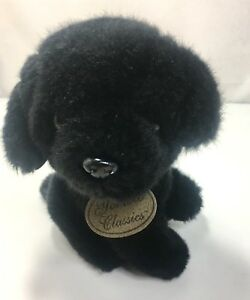 Russ Yomiko Classics 7 Inch Black Labrador Lab Puppy Dog Plush