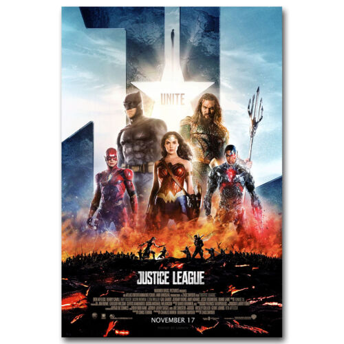 Justice League Comic Movie Art Silk Poster Superman Batman 13x20 24x36 inch J204