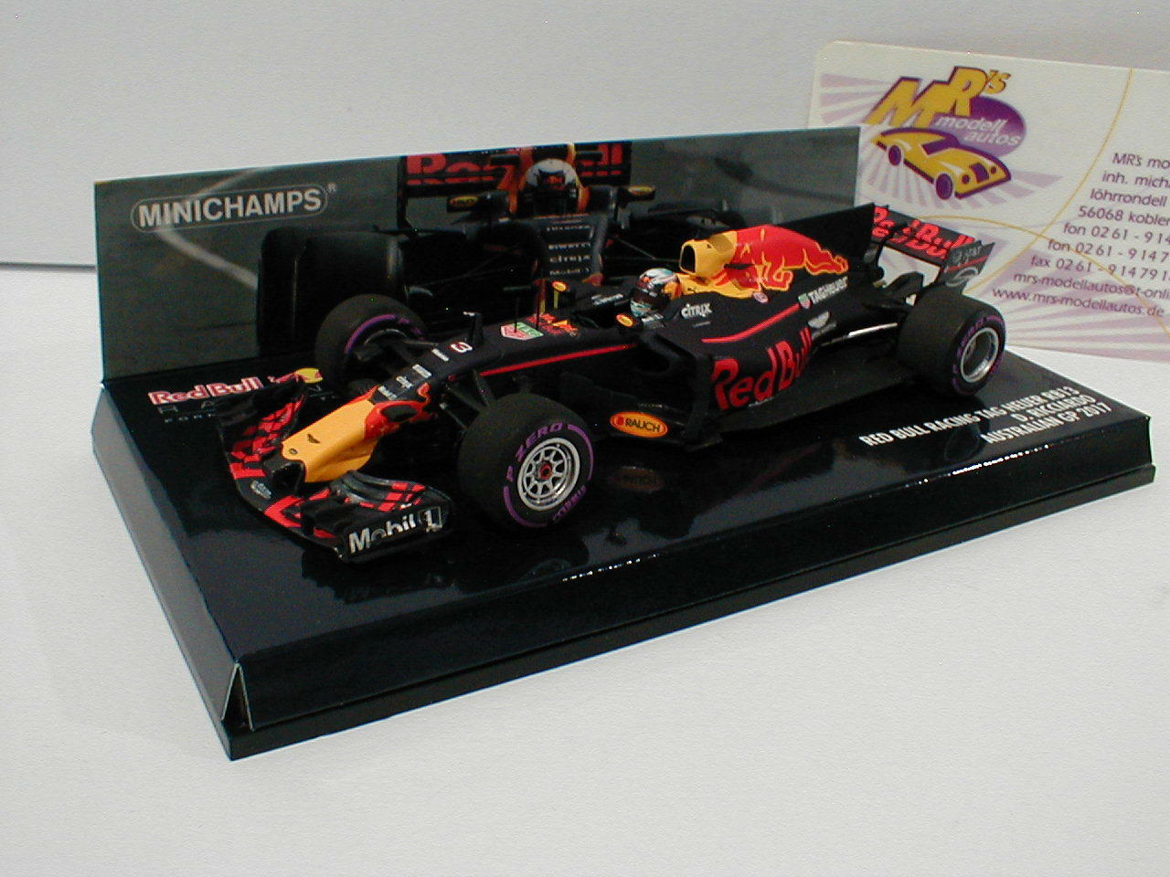 centro comercial de moda Minichamps Minichamps Minichamps 410170003-rojo bull rb13 No. 3 australia gp f1 2017 D. Ricciardo 1 43  venta mundialmente famosa en línea
