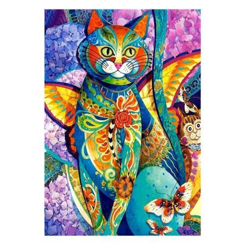 Cat 5D Diamond Painting DIY Embroidery Needlework Cross Stitch Mosaic Home Decor