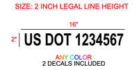 Us Dot Numbers Vinyl Semi Truck Stickers Decals Custom Window Bumper Trailer