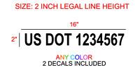 Us Dot Numbers Vinyl Semi Truck Stickers Decals Custom Window Bumper Trailer