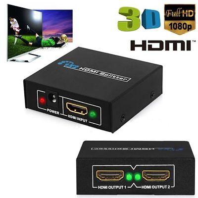 1 In 2 Out Alimentato Amplificatore Splitter Hdmi 1080p Per Ps3 Xbox Hdtv + Cavo Usb- I Prodotti Sono Venduti Senza Limitazioni