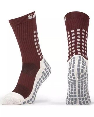 8d612d29b311 Trusox Mid-Calf Crew Cushion Soccer Socks - Burgundy