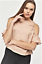 12-14 Ladies Cold Shoulder Ruched Short Sleeves Satin Top New UK Size 8-10