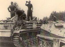 Small German Style Panzer Photo- WWII Tank- Stug- Sturmgeschütz IV- Halftrack