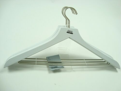 12 total Durable Made by design Lot of 3-4 count White Wood Hangers