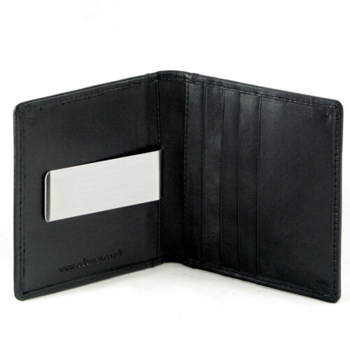 Leather Slimline Money Clip//Card Holder with ID//Oyster Card//Travel Pass Window