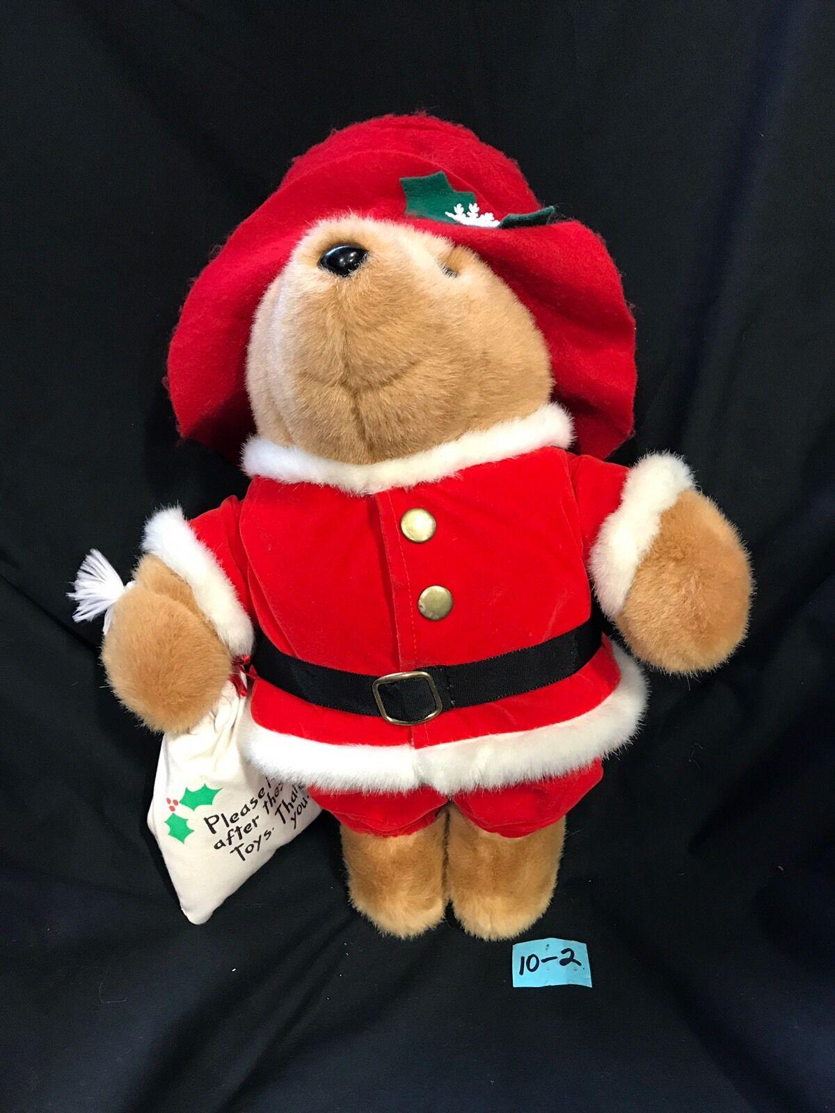 1981 Vintage Eden Santa Paddington Bear Stuffed Animal 16