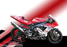 DINA4 Poster Foto: Yamaha Rennmotorrad Motorrad Rennmaschine race motorcycle (1)