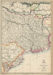 East Indian Railway Calcutta-raniganj Weller Dispatch Atlas 1863 Map Bengal