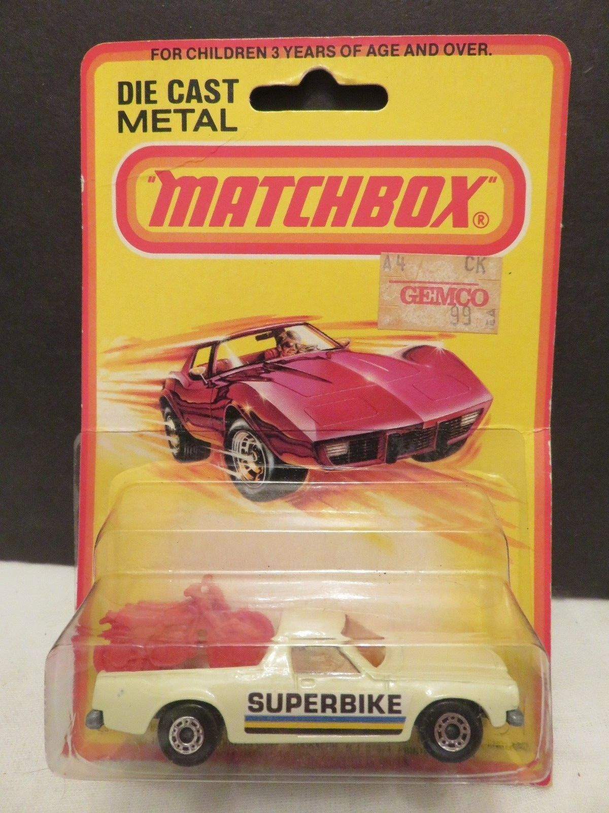 Matchbox lesney   60 chevrolet el camino superbike weißen metall - spritzguss england