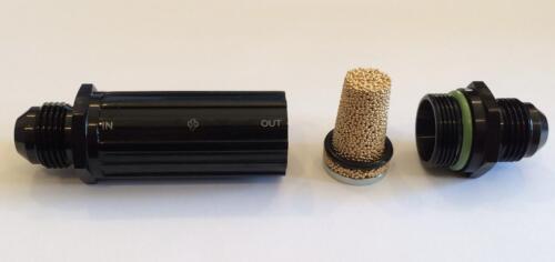 Y933-10AN High Flow Aluminum Fuel Filter 150 Micron Bronze Filter 10//-10 BLACK