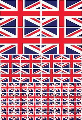 UNION JACK / GREAT BRITAIN FLAG MULTI PACK - VINYL STICKERS - Various Sizes
