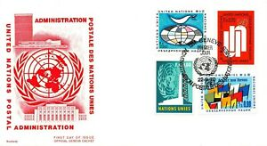 Set-of-10-Envelopes-1er-Day-United-Nations-Series-Administration-1969-1970