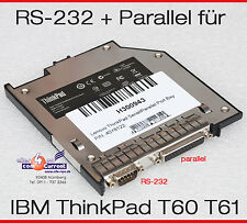 SCHNITTSTELLE IBM LENOVO T60 T60P T61 RS-232 SERIAL PARALLEL 40Y8124 40Y8122 TOP