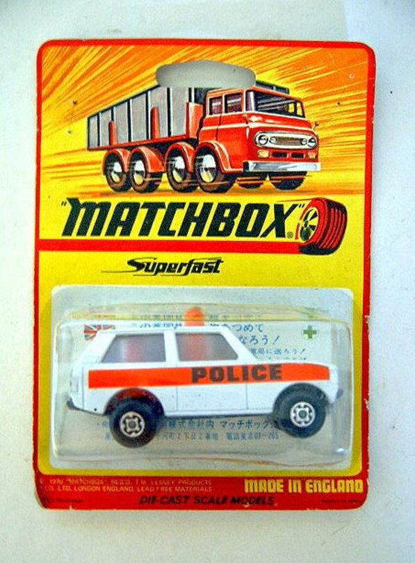 Matchbox  No.20B Police Patrol blanc body  Police  rare japanise blistervoitured  il y a plus de marques de produits de haute qualité