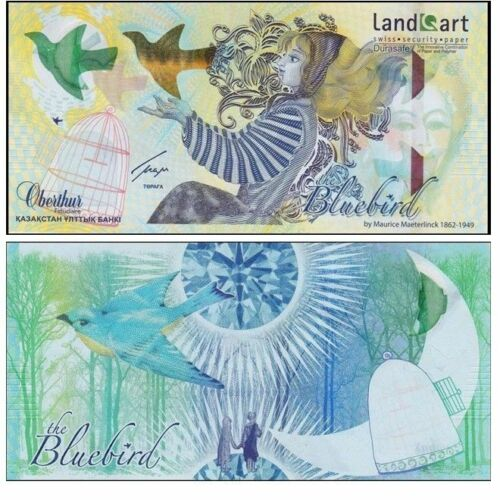 BIRD* Kazakhstan,Bluebird *Specimen Test Note Without Folder